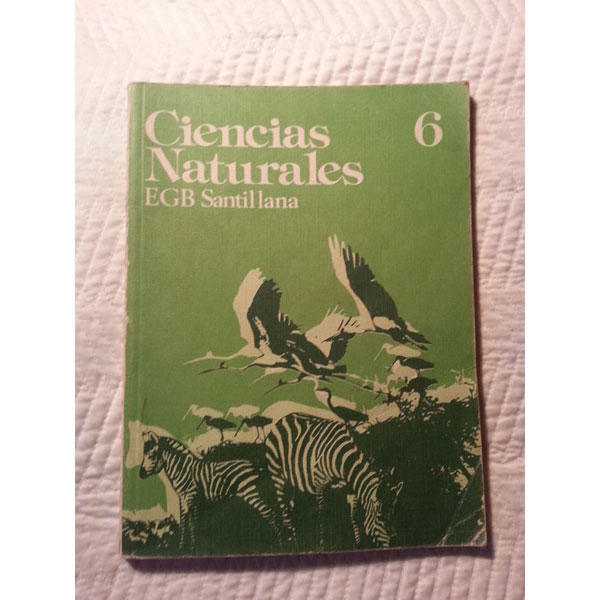 REGALO Libro escolar antiguo de Ciencias Naturales 1