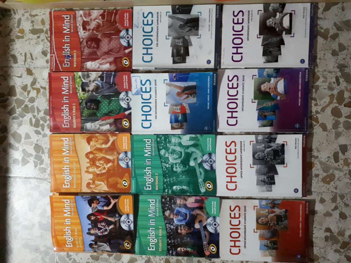 REGALO Libros de inglés (English in Mind y CHOICES)