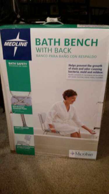 REGALO Bath bench with back