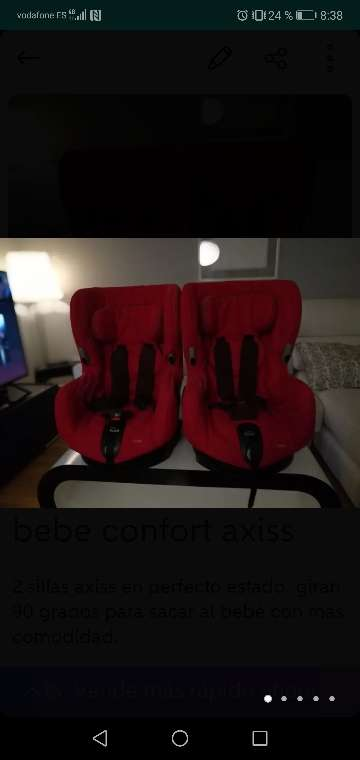 REGALO dos sillas bebe confort axiss