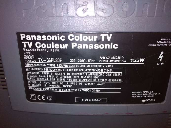REGALO Televisión Panasonic a color en perfecto estado 3