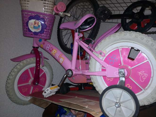 REGALO bici infantil de Barbie